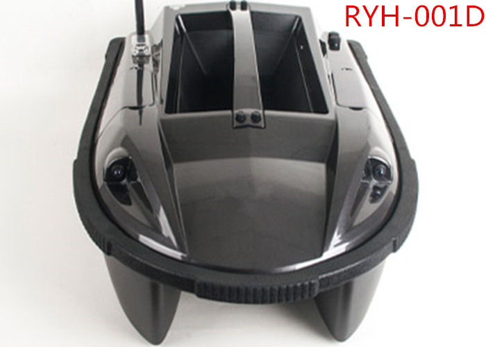 Black Electronic Remote Control Baitboat With GPS, Fish Finder RYH-001D